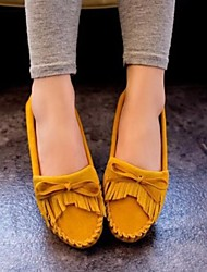 cheap -Women's Shoes Tassels Bowknot Flat Heel Comfort / Round Toe Flats Outdoor / Casual More Colors Can Available