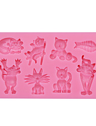 cheap -Animal Cats Fish Silicone Chocolate Mould,Fondant Baking Mold,Sugar Decoration Tool,Silicone Mold Decoration SM-064