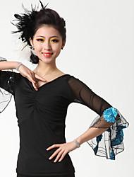 cheap -Ballroom Dance Tops Women's Performance Crepe Milk Fiber Draping Top
