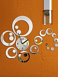 cheap -Casual Modern/Contemporary Office/Business Plastic Round Indoor,AA Wall Clock