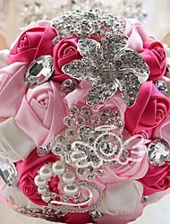 """abordables -Fleurs de mariage Bouquets Mariage Satin 7.48""""(Env.19cm) 25cm"""