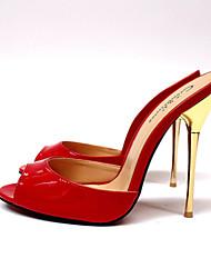 Dámské Boty Koženka Léto Vysoký Pro Party Fuchsiová Červená Zlatá Mandlová Burgundská fialová
