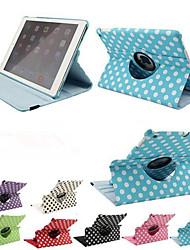 preiswerte -Luxus-Druck Polka Dot 360 Dreh PU-Leder Tasche für Apple iPad Tablet-Luft intelligente Abdeckung Flip Fällen mit Ständer