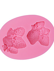 Four Cute Strawberry Shaped Silicone Molds Design 3D Food Grade Silicone Mould Fondant Soap Molds Cooking Tools SM-061
