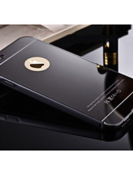 cheap -Case For Apple iPhone 6 iPhone 6 Plus Plating Mirror Back Cover Solid Color Hard Metal for