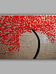 peinture d'arbre de couteau peint à la main par la décoration de la main à la main