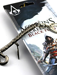 Cosplay Accessories Inspired by Assassin's Creed Cosplay Anime/ Video Games Cosplay Accessories Keychain Silver Alloy Male
