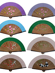 Silk Fans and parasols - 1 Piece/Set Hand Fans Garden Theme / Floral Theme Pink / Green / Blue(Random Color)