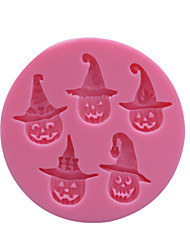 Little Wizard Siliocne Mold Halloween Cartoon Silicone Fondant Cake Mold , Cookie Stamp Baking Tools for Cakes SM-004