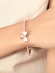 cheap -Korean Sweet Studded With Drill Clover Opal Bracelet Jewelry