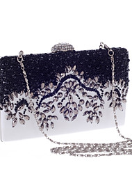 Women Bags All Seasons Polyester Evening Bag Imitation Pearl Crystal/ Rhinestone for Wedding Event/Party Formal Office & Career Blue/White
