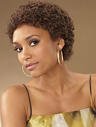 cheap -Synthetic Wig Kinky Curly Synthetic Hair African American Wig / Glueless Brown Wig Women's Short Capless