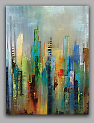 cheap -Oil Painting Hand Painted - Abstract European Style Canvas