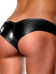 cheap -Women's Solid Ultra Sexy Panties Polyester Gold Black Silver Fuchsia Blue