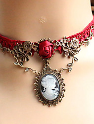 Women's Choker Necklaces Pendant Necklaces Gothic Jewelry Jewelry Lace Unique Design Tattoo Style Costume Jewelry European Jewelry For