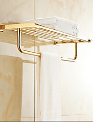 cheap -Bathroom Shelf Contemporary Brass 1 pc - Hotel bath Double