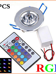 cheap -5Pcs MORSEN® 3W Super Bright Recessed  RGB  Remote Control  LED  Downlight   Spot Light LED Decoration Ceiling Lamp