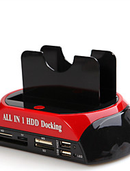 All In One USB2.0 To 2.5/3.5 Dual SATA HDD Docking Station GL02