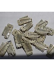 economico -parrucca accessori 3.6cm bionde clip a scatto pettine per clip nelle estensioni di trama / parrucche strumenti di capelli 20pcs