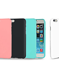 abordables -Funda Para Apple iPhone 8 iPhone 8 Plus iPhone 6 iPhone 6 Plus iPhone 7 Plus Antigolpes Funda Trasera Color sólido Suave TPU para iPhone