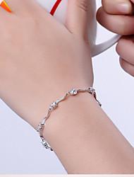 preiswerte -Damen Sterling Silber Ketten- & Glieder-Armbänder Bettelarmbänder - Weiß Purpur Armbänder Für Weihnachts Geschenke Hochzeit Party