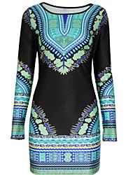 cheap -Women's Casual Bodycon Dress Flower Print