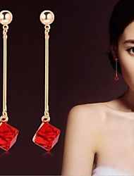 cheap -Women's Crystal Drop Earrings - Bridal For Wedding Party Daily Casual