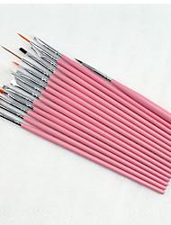 Недорогие -15pcs картины искусства ногтя ручки кисти наборы комплект
