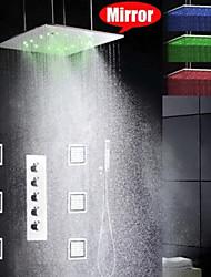 abordables -robinet de douche - robinet en céramique chromé contemporain / laiton