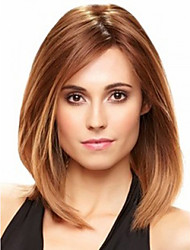 Fashion Lady Middle Brown Color Straight Beautiful Wig