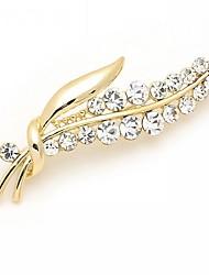 abordables -Mujer Broche - Brillante, Diamante Sintético Lujo, Moda Broche Plata / Dorado Para Boda / Fiesta / Ocasión especial