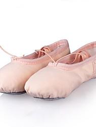 cheap -Kids' Ballet Canvas Flat Practice Performance Flat Heel Pink Beige Non Customizable