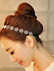 cheap -Women Fashion Elegant Hollow Roses Flower Pattern Hair Bands Hair Accessories 1pc
