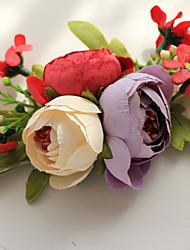 economico -fiori da sposa belle rose rotonde corsetti da polso accessori da sposa
