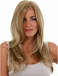 cheap -Synthetic Wig Straight Blonde Women's Capless Medium Synthetic Hair