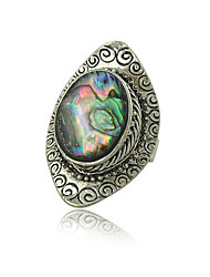 cheap -Factory Original Design Gypsy Vintage Silver Plated Boho Shell Rings for Woman