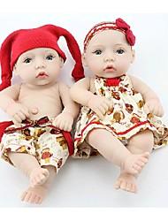 Недорогие -npkdoll возрождается кукла ребенка жесткий силикон 11inch 28см водонепроницаемый красный шлем мальчик и девочка