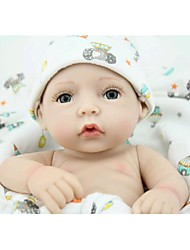 cheap -NPK DOLL Reborn Doll Baby 10inch Silicone / Vinyl - Newborn, lifelike, Cute Girls' Kid's Gift