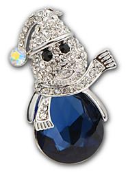 Luxury Diamond Brooch Hight Quality Blue Crystal Acrylic Rhinestone Brooches Pins Wedding Jewelry Badges with Pin X30005