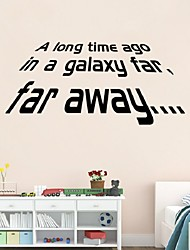Star War Quote A Long Time Ago In A Galaxy Wall Decals Vinyl DIY Sticker Home Decors For Boys Men Room