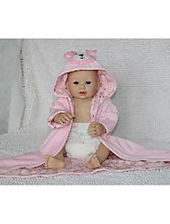 cheap -NPKDOLL Reborn Baby Doll Hard Silicone 20inch 50cm Magnetic Lovely Lifelike Cute Girl Toy Pink Bear