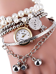 cheap -Women's Elegant Pearls Design Bracelet Quartz Wristwatch Cool Watches Unique Watches