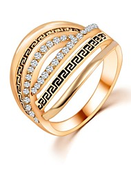 cheap -Women's Band Ring - Zircon Unique Design, Fashion 6 / 7 / 8 Silver / Golden For Wedding / Party / Daily