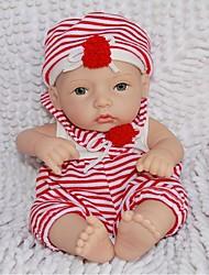 baratos -npkdoll boneca reborn difícil silicone 11inch 28 centímetros impermeável menino vermelho-branco