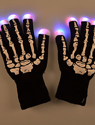 cheap -Halloween LED Light Skeleton Pattern Gloves for Party Cycling Finger Lighting Warm Keeping for Party Club Dance