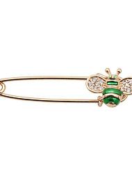Недорогие -женской моды мило стразы установить эмаль пчелы металла брошь
