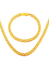 High quality Korean chain Trendy Suitable for men and women Jewelry 18K Gold Plated Necklace Bracelet Jewelry NB60045