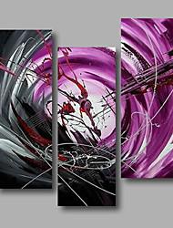 baratos -Pintados à mão Abstrato qualquer Forma, Modern Tela de pintura Pintura a Óleo Decoração para casa 3 Painéis