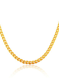 cheap -Men Jewelry Gold Necklace Wholesale New Trendy 18K Gold Plated Chunky Curb Cuban Link Chain Necklaces N50122