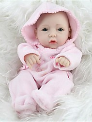 cheap -NPK DOLL Reborn Doll Baby Full Body Silicone / Silicone / Vinyl - lifelike, Hand Applied Eyelashes, Tipped and Sealed Nails Kid's Girls' Gift / CE Certified / Natural Skin Tone / Floppy Head
